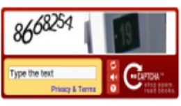 Account Registration CAPTCHA / Google reCaptcha V1
