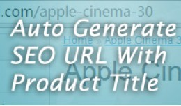 Auto SEO URL Keyword With Product Title