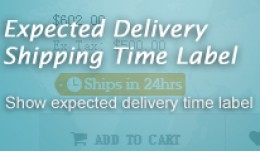 Expected Delivery Time Label On Product