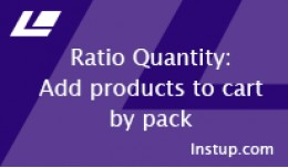 Ratio quantity (add product by pack) VQmod