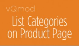 Show All Categories on Product Page
