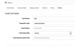 Credit Card Processing from Admin