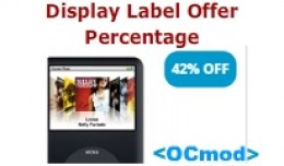 Display Label Offer Percentage