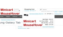 Show Minicart On MouseHover - [vQmod]