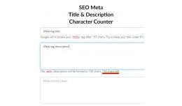 SEO Meta Title Description Character Counter VQMOD