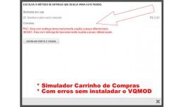 Correção erro PAC,SEDEX Área com entrega temp..