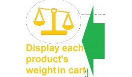 GGW vQmod Display weight for each product in cart