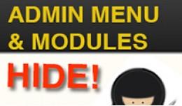 Hide Admin Menu + Modules + Payments + Shipping ..