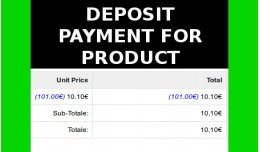 Deposit Payment for product Caparra (Vqmod)