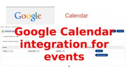 Google Calendar integration for events (vqmod)