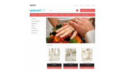 OpenCart Responsive Wedding template