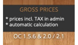 Gross Prices (with automatic taxes/VAT incl. zon..