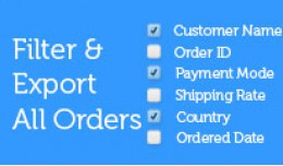 Filter & Export All Orders