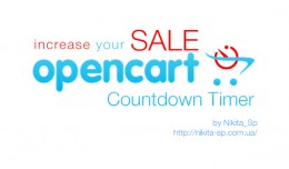 Product sale countdown timer