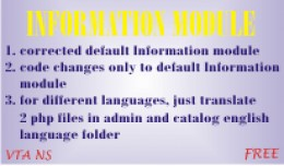 Corrected Information Module