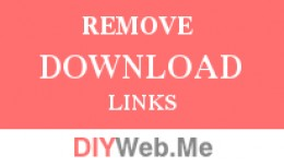 Remove Download Page Links