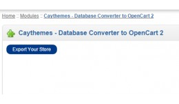 Database Converter to OpenCart 2