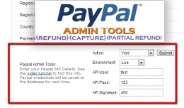Paypal Admin Tools 15x/2x/3.0 (Admin Refund, Voi..