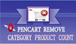 opencart remove category product count