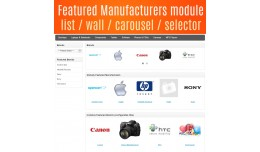 Featured Manufacturers module - List - Wall - Ca..