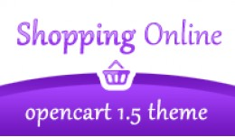 Shopping Online Purple Opencart 1.5 Theme