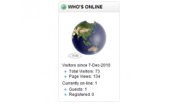 Earthball 150 (Who's Online/Visitor Counter)