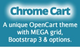 Chrome Cart - Responsive theme with MEGA grid