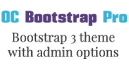 OC Bootstrap Pro - Bootstrap 3 theme with options