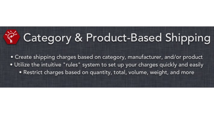 (1.5.x) Category & Product-Based Shipping