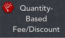 (1.5.x) Quantity-Based Fee/Discount
