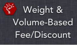 (1.5.x) Weight & Volume-Based Fee/Discount