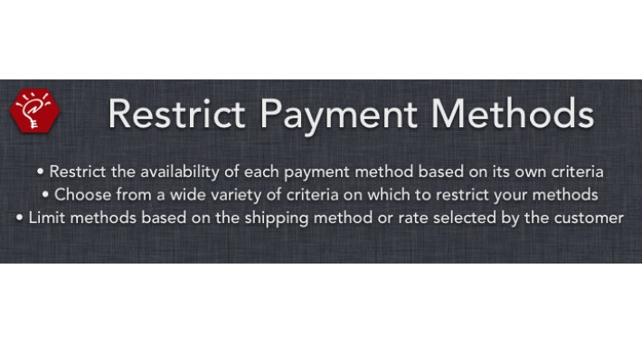 (1.5.x) Restrict Payment Methods