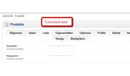 Admin Fix Productform