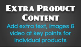 Extra Product Content - Add extra content per pr..