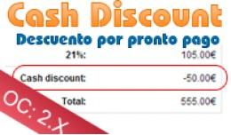 Cash Discount - Descuento por pronto pago - Open..