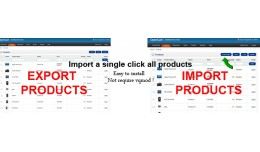 Import a single click all products