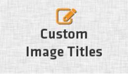 Custom Image Titles
