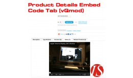 Product Details Embed Code Tab v1.5.x & v2.x..