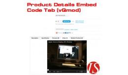 Product Details Embed Code Tab v1.5.x & v2.x..