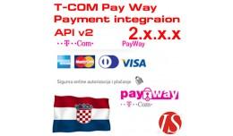 T-COM Pay Way API v2 Payment Integration for 2.x..
