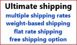 Ultimate Shipping: multiple rates, weight-based,..