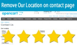 Remove Our Location Address & Phone number o..