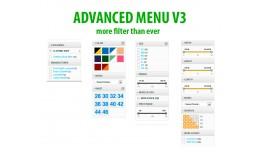 Advanced Menu layered Category/Attribute/Options..