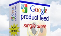 Google Product Feed for Opencart 2.0 - Single St..