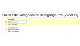 Quick Edit Products and Categories Multilanguage..