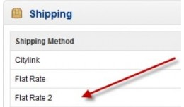 Second Flat Rate Shipping method