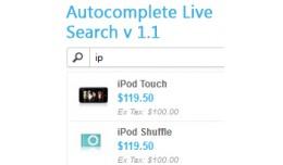Autocomplete Live Search - AJAX