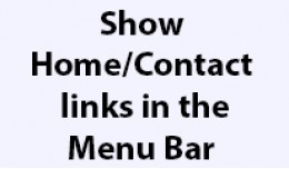 Home and Contact links in Menu