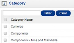 Simple admin categories filter