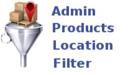 Admin Products Location Filter